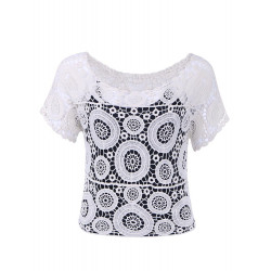 Flower in the Circle Knitted T-shirt
