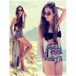 Geometry High Waist Bikini High-Waisted Bikini Set For Women