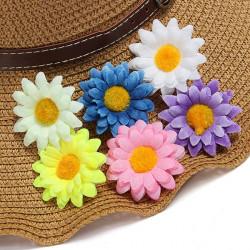 Gerbera Daisy Head Konstsilke Blomster Party Stycken