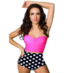 Halter Gather Bra Split Swim Set