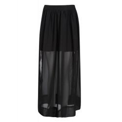 Uregelmæssig Long Nederdel Sort Nederdele Chiffon Kjole