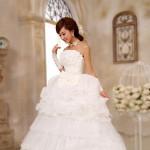 Korean Elegant White Lace Princess Wedding Dress Bridal Gown Women's Clothing