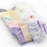 Lace Elegance Gulliga Cotton White Spot Socks Damkläder
