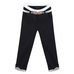 Lace Stitching Candy Color Pocket Skinny Capris Bukser