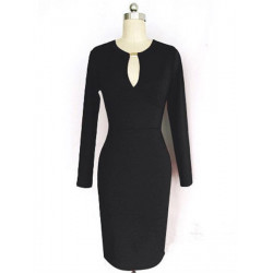 ® Ladies Sexy V Neck Packet Buttock Dress
