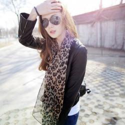 Leopard Druck Brown Oversize lange Schal Schal