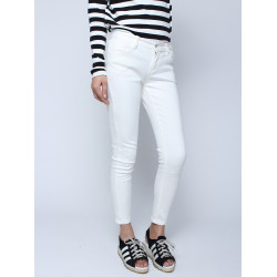 Långa Vita Skinny Demin Jeans