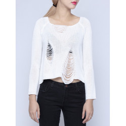 Loose Knitted Long Sleeve Casual Pullover Sweater