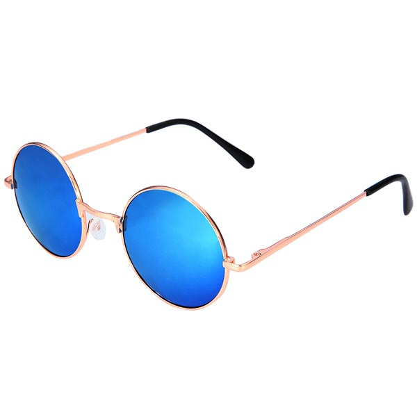 Luxury Colorful Lenses Vintage Round Sunglasses Women's Clothing