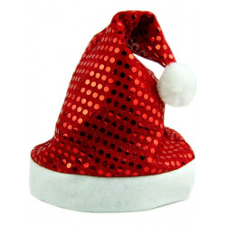 Men And Women Sequins Double Composite Christmas Hats