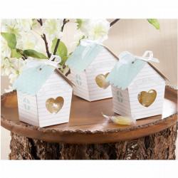 Mini House Godis Lådor med Clear Heart Bröllopfavör Gåva