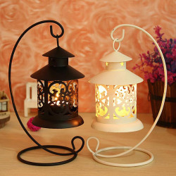 Moroccan Style Iron hollow Candlestick Candles Candleholder