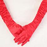 New Special Wedding Dress Bridal  Long Finger White Satin Gloves Women's Clothing