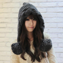 New Winter Sphere Conical Peaked Hat Knitted Wool Hat