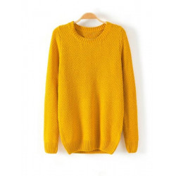 Pineapple Needle Pure Round Neck knitted Sweaters