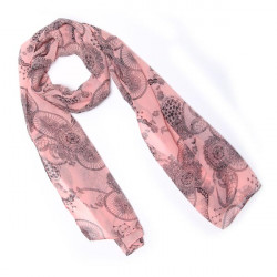 Printed Long Chiffon Scarf Shawl Beach Towel
