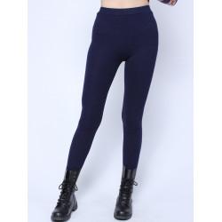 Pure Color Velvet Tight High Waist Elastic Legging