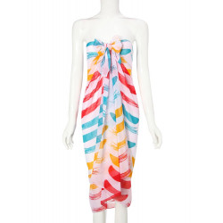 Rainbow Stripes Pattern Chiffon Sun-protective Beach Towels