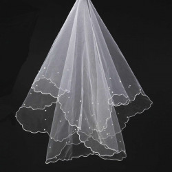 Scallop Pearl Yarn 1.5 Meters Popular Bridal Veil