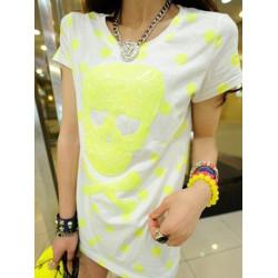 Sequined Vågen Pekar Kort T-tröja