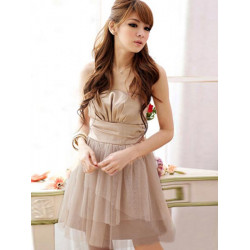Sexy Dew Shoulder Ruffle Bridesmaid Evening Gown Lovely Mini Dress