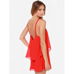 Sexy Hot Summer Boho Chiffon Backless Strap Short Evening Party Dress