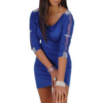 Sexy Hot Women Slim Party 3/4 Sleeve Mini Dress Blouse Women's Clothing