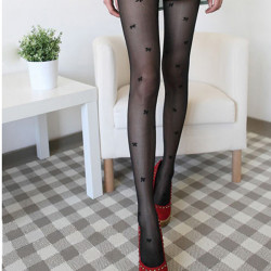 Sexy Transparent Cute Bowknot Stockings