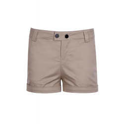 Shorts in Twill with Roll-up Hem