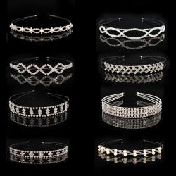 Silber Crystle Diamant Perlen Brauthauptband Hochzeit Abend