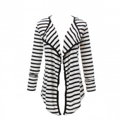 ® Slim Long Sleeves Striped Cardigan
