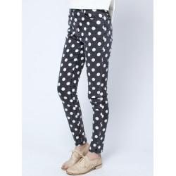 Spring Efterår Dot Print Bukser Jeans