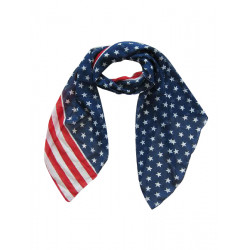Stars Printed Red and White Striped Scarf Shawl