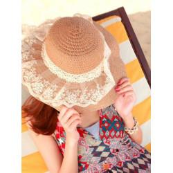 Straw Spitzebowknot Strand Hüte