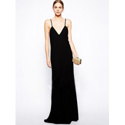 Strip Long Clubwear Backless Women Chiffon Dress