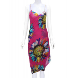 Sunflower Printing  Chiffon Slip Beach Towels Beach Dress