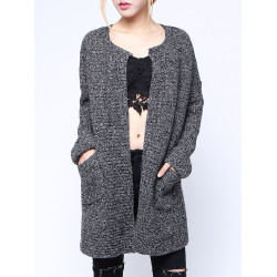 Thick Long Sleeve Pocket Knitted Sweater Cardigans