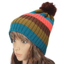 Unisex Warm Wool Knitted Rib Pom-Pom Beanies Ski Hat Christmas Gift