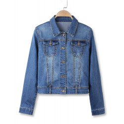 Vintage Blue Shorts Turn Down Cropped Denim Kappa
