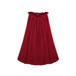 Vintage Elegant Elastisk Waist Kvinna Plisserad Chiffong Ankel Längd Kjol