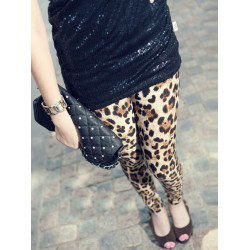 Weinlese Leopard Gamaschen