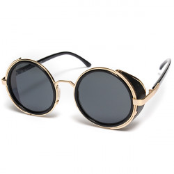 Vintage Steampunk Style 50s Round Glasses Cyber Goggles Sunglasses