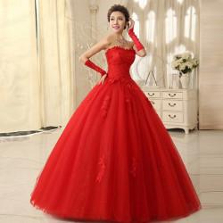 Hochzeit formale Tube Top Verband Netzstrumpf Prinzessin volle Kleider