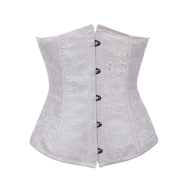 White Steel Underbust Corset Women's Clothing