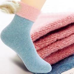 Women Autumn Winter Thick Woolen Warm Socks