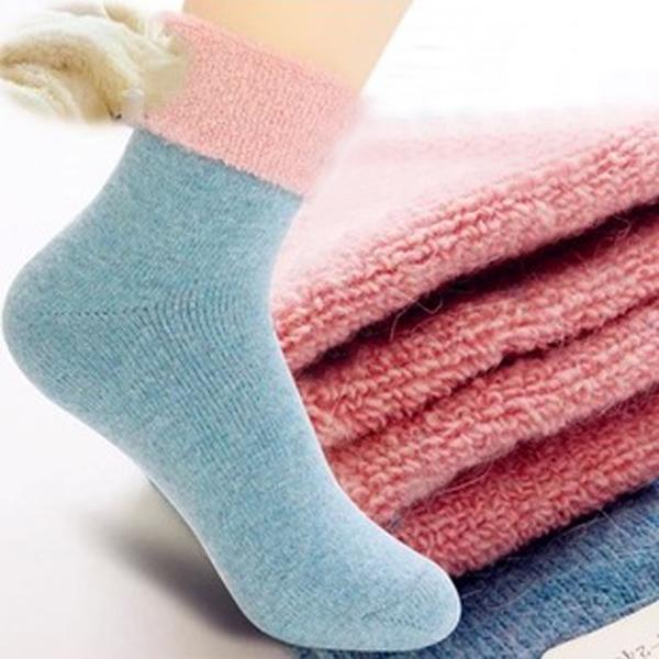 Frauen Herbst Winter dicken Woll warme Socken Damenbekleidung