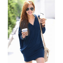 Women Batwing Sleeve Button Casual Blouse Shirt