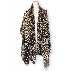 Women Casual Leopard Printed Knitted Scarf Shawl