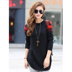 Women Casual Langarm Strickpullover Pullover
