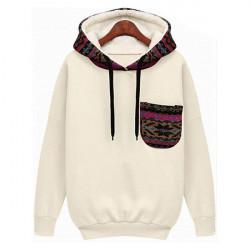 Women Casual Plus Size Velvet Thicken Hooded Pullover Sweatshirt